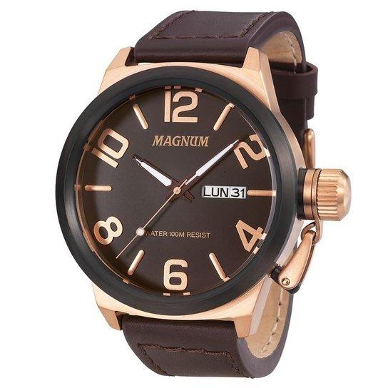 5bee2acc7d3 Relógio Magnum Masculino - Marrom - Compre Agora
