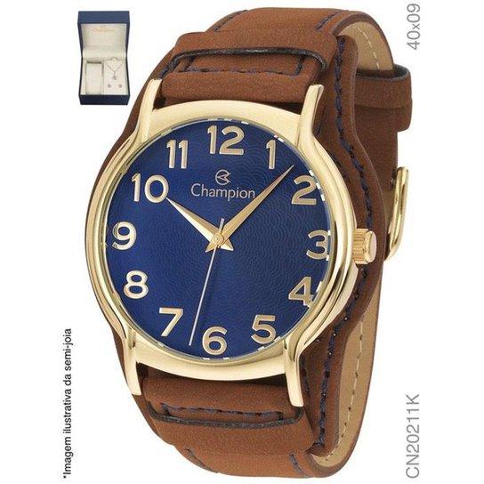 1e85c690bdf Relógio Champion Feminino Couro Cn20211k - Compre Agora