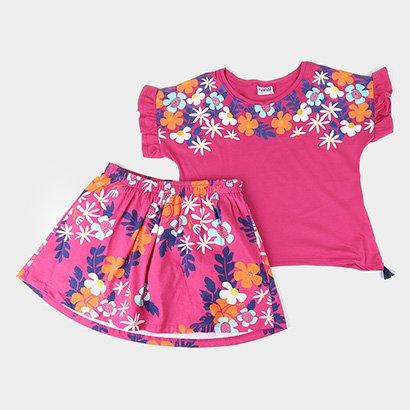 Conjunto Infantil Nanai Floral Feminino