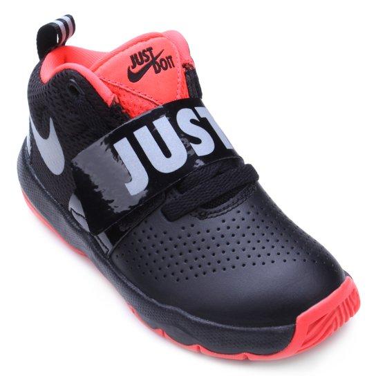 Tênis Infantil Nike Team Hustle Masculino - Preto e Prata - Compre ... 04e7ffcfb2de1