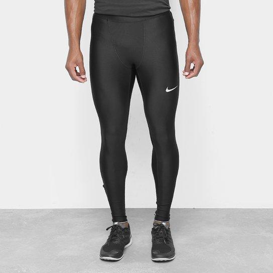 ebb9bb0a056 Calça Nike Run Mobility Tight Masculina - Preto e Prata - Compre ...