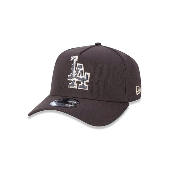Boné 940 Los Angeles Dodgers MLB Aba Curva Snapback New Era - Marrom ... 721261c489b