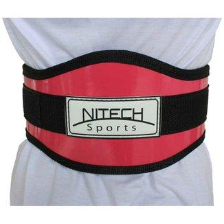 803bc0e30 Cinto Para Musculação Reforçado Com Velcro Simples - Nitech Sports
