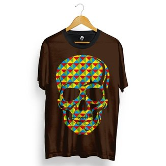 Camiseta BSC Skull Geometric Calors Total Full Print