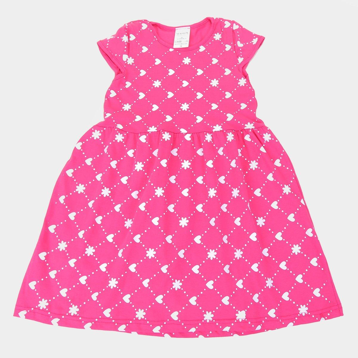 Vestido Infantil Candy Kids Corações Feminino