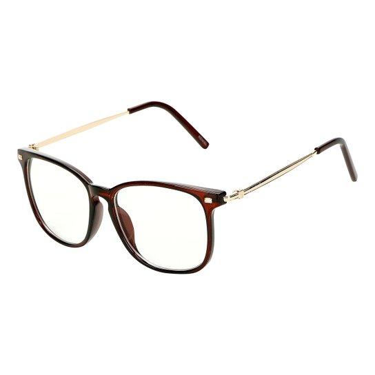 8307e9e4d Armação para Óculos de Grau Marielas Feminina - Marrom | Netshoes