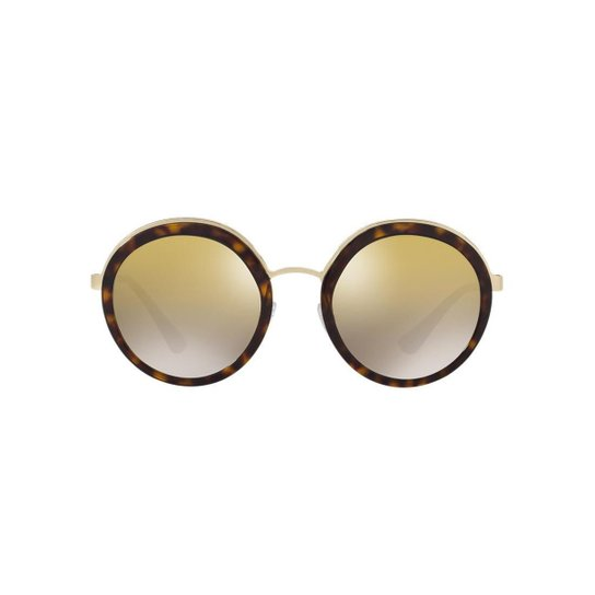 66b370f72 Óculos de Sol Prada Redondo PR 50TS Feminino - Marrom | Netshoes