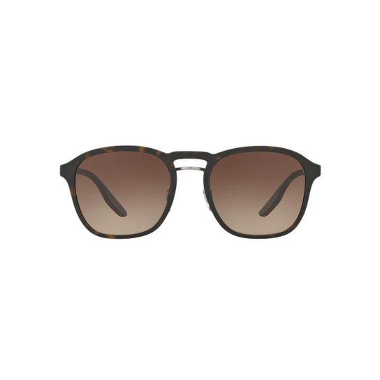 0ec361230 Óculos de Sol Prada Linea Rossa Redondo PS 02SS Masculino - Marrom ...