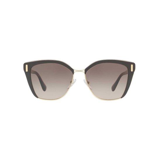 b51d9e63b Óculos de Sol Prada Quadrado PR 56TS Feminino - Marrom | Netshoes
