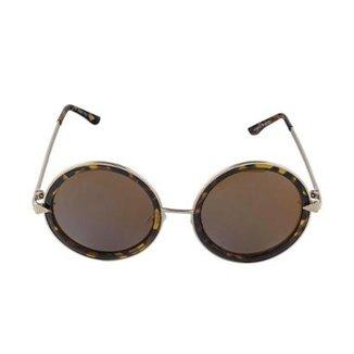 ce6dc034c3f82 Óculos de Sol Khatto Round Vintage Feminino