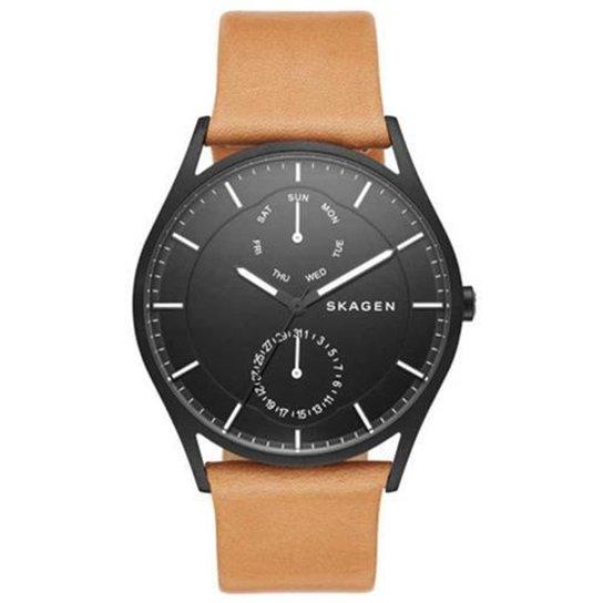 798ea2962ed Relógio Skagen Ancher SKW6265 0PN 40mm Couro - Compre Agora