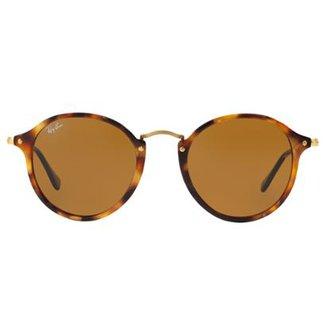 Óculos de Sol Ray-Ban Round Fleck RB2447 - Tartaruga - 1160 52 8b21969894