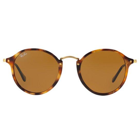 Óculos de Sol Ray-Ban Round Fleck RB2447 - Tartaruga - 1160 52 ... 3fdb7ea5f9