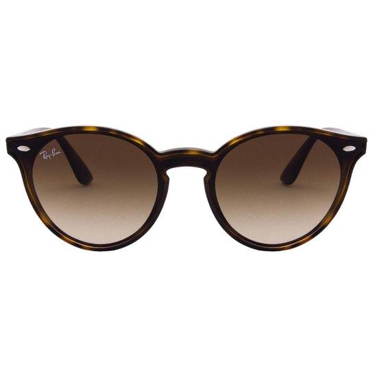 72ba1be0a Óculos de Sol Ray-Ban Blaze Round RB4380N - 6355-U0/37 - Marrom ...