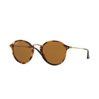3a2634390c39d Óculos de Sol Ray-Ban Round Fleck RB2447 Tartaruga