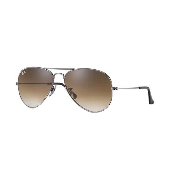 7f5d3b90cbf34 Óculos de Sol Ray-Ban Aviator Rb3025 Masculino - Marrom - Compre ...