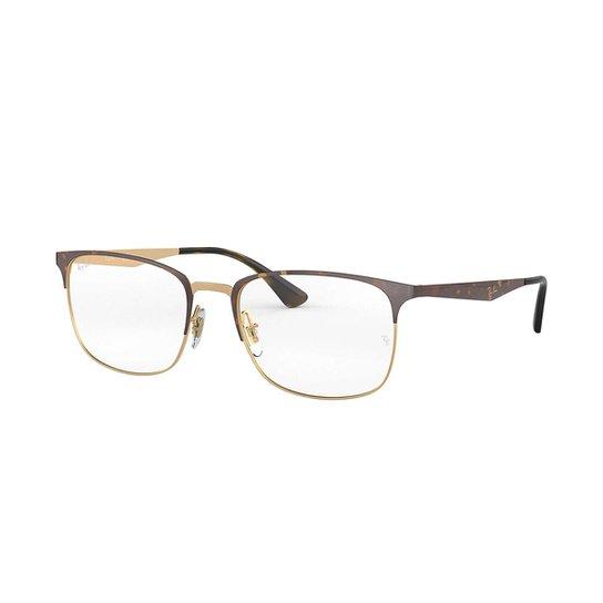 6f9953c844508 Armação de Óculos Ray-Ban RB6421 Feminina - Marrom - Compre Agora ...