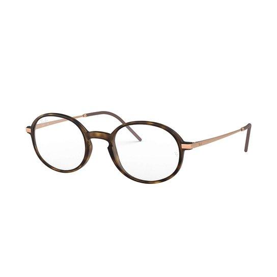a007e21d44431 Armação de Óculos Ray-Ban RB7153 Feminina - Marrom - Compre Agora ...