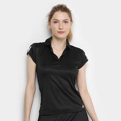 Camisa Polo Adidas Club 3 Stripes Feminina