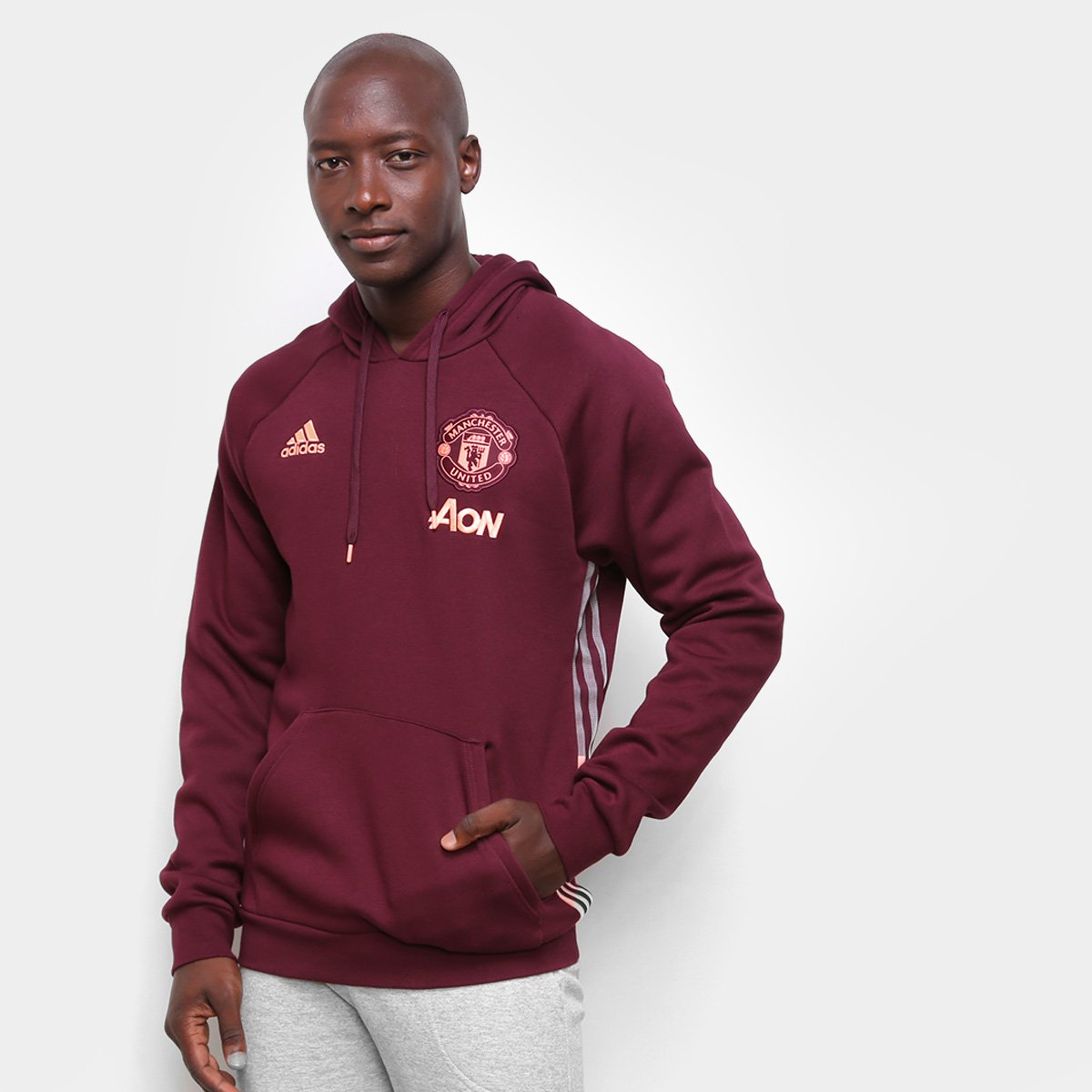 Moletom Manchester United Adidas 21/22 Masculino