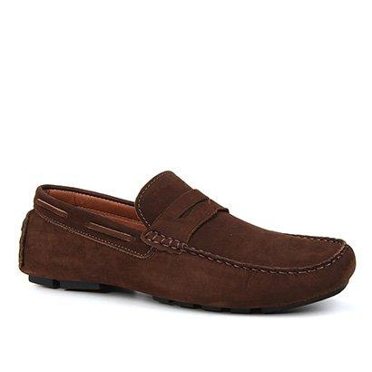 Mocassim Couro Shoestock Gravata Masculino