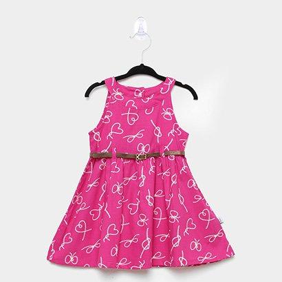 Vestido Infantil Cinto Rovitex