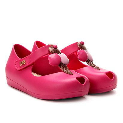 Sapatilha Infantil World Colors Fosca Velcro Aplique Sorvete Feminina