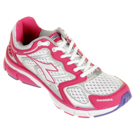 Tênis Diadora New Stratus - Pink e Branco - Compre Agora  265b958e1d4f6