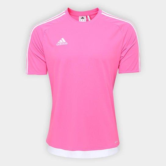 Camisa Adidas Estro 15 Masculina - Rosa e Branco - Compre Agora ... eef2ce6fc3c20
