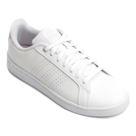 3b93f0bb3ba Tênis Adidas Cf Advantage Clean Feminino - Branco e Rosa - Compre ...
