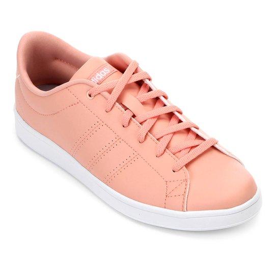 Tênis Adidas Advantage Clean Qt Feminino - Pink e Branco - Compre ... 71190af25db98