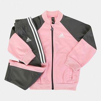 9ca0cfcc2ff Agasalho Infantil Adidas Shiny Feminino