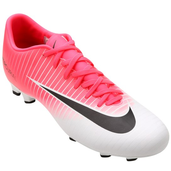 Chuteira Campo Nike Mercurial Victory 6 FG - Pink e Branco - Compre ... 6ba1f74c62a67