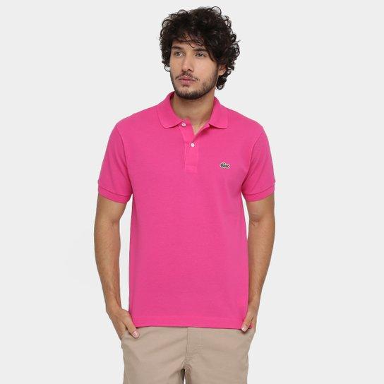 68222d71bd Camisa Polo Lacoste Original Fit Masculina - Pink - Compre Agora ...