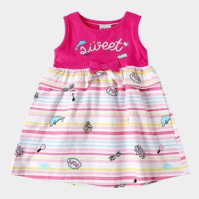 Vestido Infantil Fakini Kids Lacinho Sweet