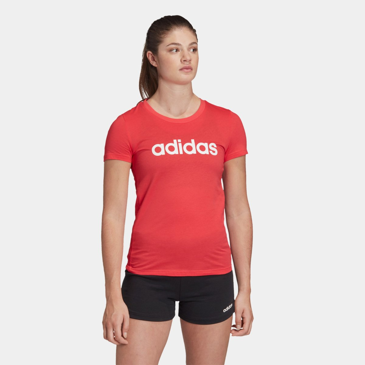 Camiseta Adidas Essentials Linear Slim Feminina