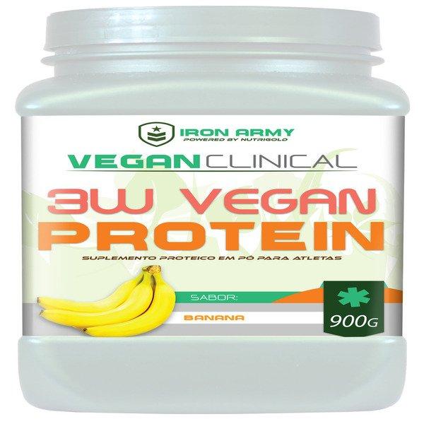 99aebc7e8 3W Vegan Protein 900G (Proteína de Ervilha + Arroz + Soja) - Iron Army - Compre  Agora
