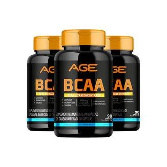 3X Bcaa Age (90 Cápsulas) - Age