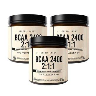 3X Bcaa Max (450+450+450 Cápsulas) (450 Cápsulas) - Generic Labs