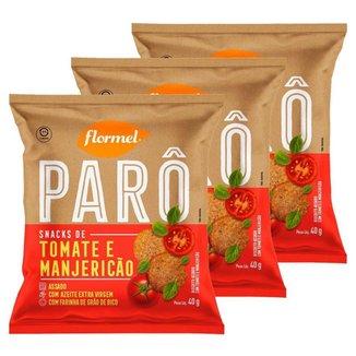 3x Biscoito Flormel ParO Tomate E ManjericAo 40g