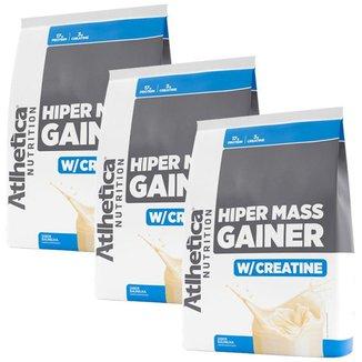 3x Hiper Mass Gainer 3kg - Atlhetica Nutrition - Combo Hipercalórico
