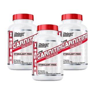 3X Lipo 6 L-Carnitine 1000Mg (60 Cápsulas) (60 Cápsulas) - Nutrex