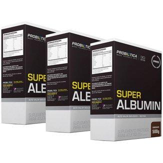 3x Super Albumin 500g - Chocolate - Probiótica