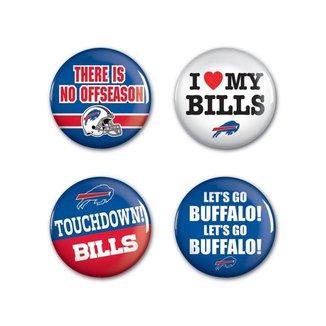 4 Bottons Pins Buffalo Bills NFL