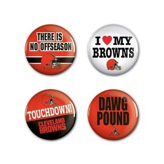 4 Bottons Pins Cleveland Browns NFL