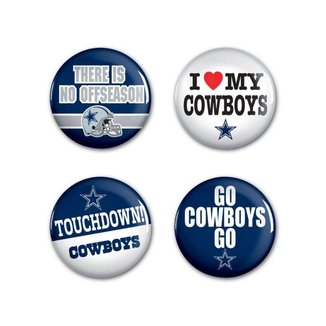 4 Bottons Pins Dallas Cowboys NFL