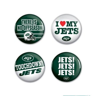4 Bottons Pins New York Jets NFL