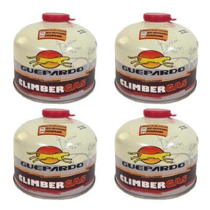 4 Cartuchos de Gás Guepardo Climber Gas com Válvula de Segurança - Unissex