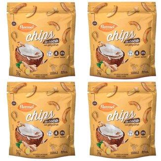 4 Chips De Coco Com Gengibre Flormel Coco In Natura Fatiado E Assado