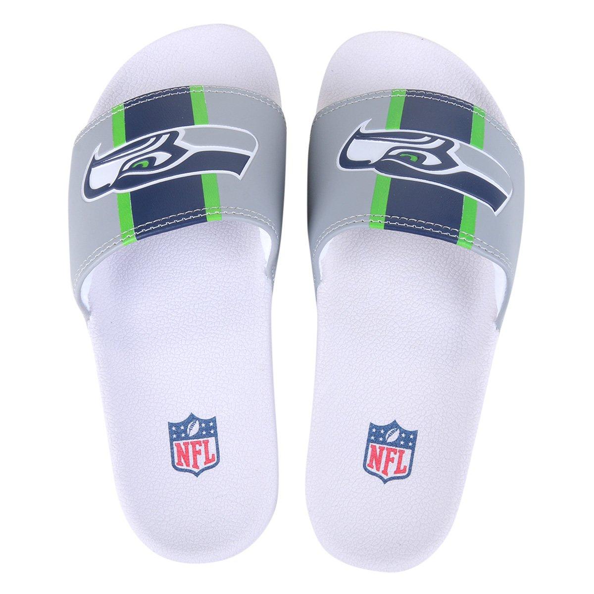 Chinelo Slide NFL Seattle Seahawks Masculino